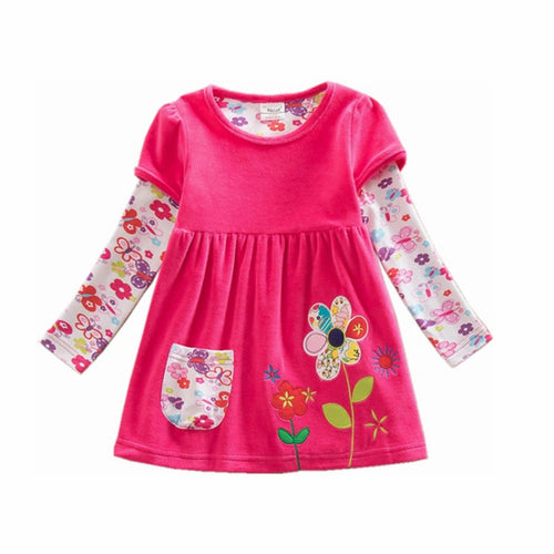 Flower and Butterfly Dress - A Little Kiddie