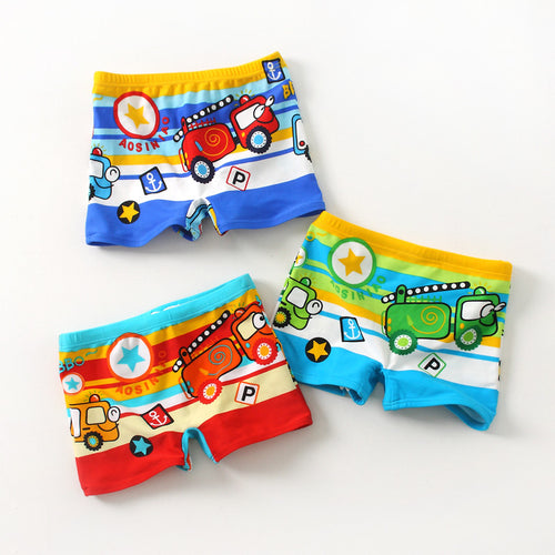 Trucks Swim Shorts For 1-3 Y - A Little Kiddie