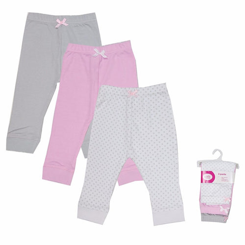 3 Pcs/lot Blue/Pink Stripped Prints Cotton Baby Boy/Girl Pants For 3 - 12M