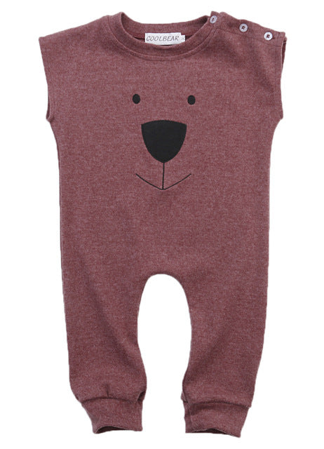 Little Bear Sleeveless Romper For 6-24 M