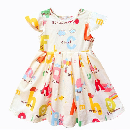 Little Alphabet Dress For 2 - 13Y