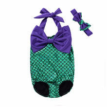 One Piece Mermaid Bather With Headband For 1-6Y