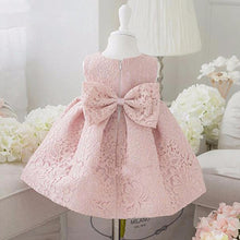 Big Bow Lace Party Dress