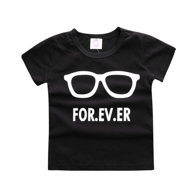 All Black Tee Top For 1 - 3 Y