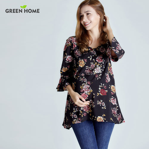 Chiffon Floral Maternity Top