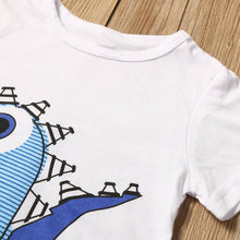 Blue Dinosaur 2 PCS Set With Tee Top + Shorts - A Little Kiddie