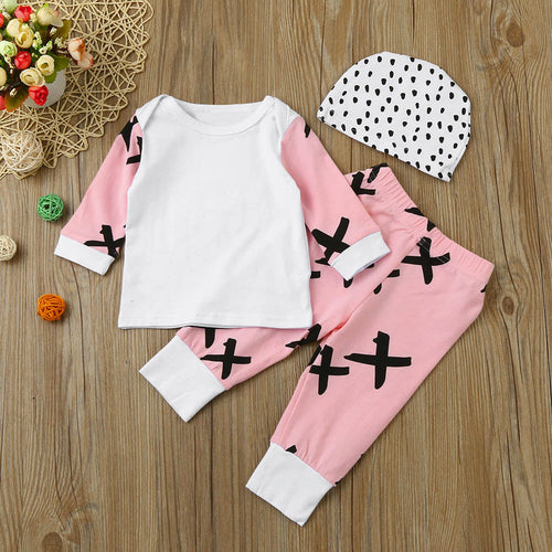 Cross and Dot 3 PCS Baby Set With Top + Pants + Hat For 6 to 24 M