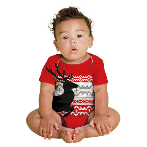 Deer and Christmas Baby Bodysuit