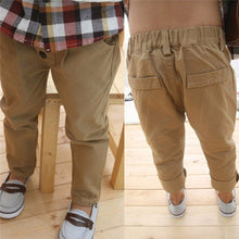 Retro Khaki Casual Straight Pants 2-7Y