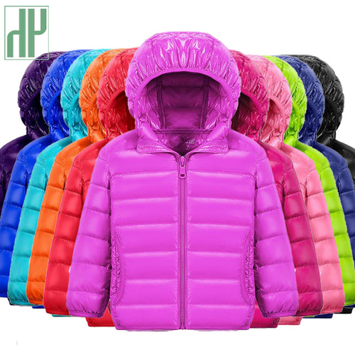 90% Duck Down Colourful Jacket With Hood