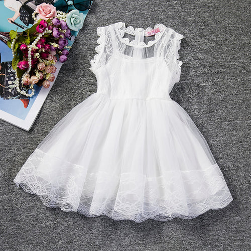 Floral Lace Princess Tutu Dress - A Little Kiddie