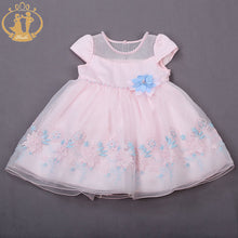 Nimble Embroidery Pearl and Flowers Dress - A Little Kiddie