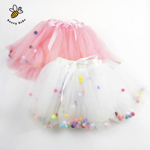 4 Layers Colourful Balls Tutu Skirt