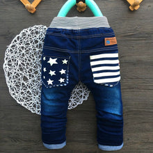 High Quality Star Jeans With Elastic Waist For 2-5Y