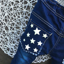 High Quality Star Jeans With Elastic Waist For 2-5Y - A Little Kiddie
