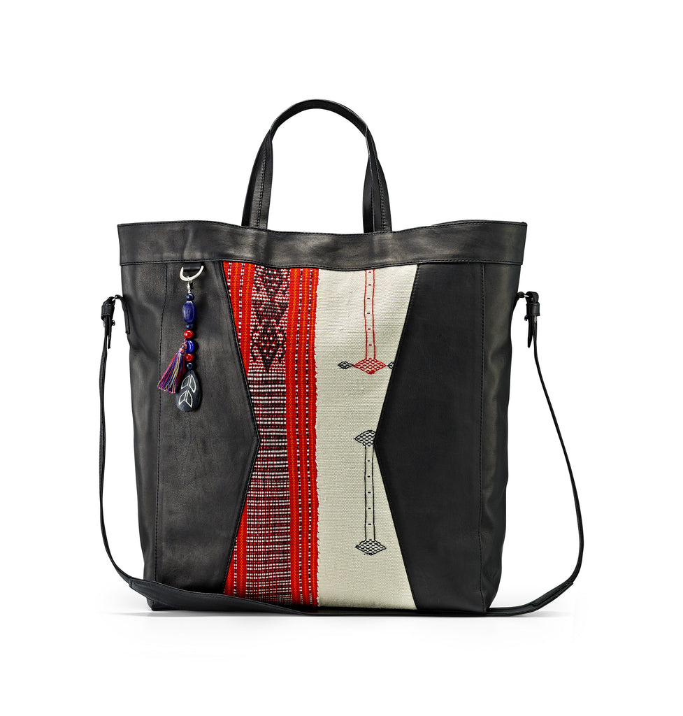 RED/WHITE TIMOR TOTE