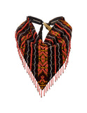BEADED IKAT SCARF NECKLACE