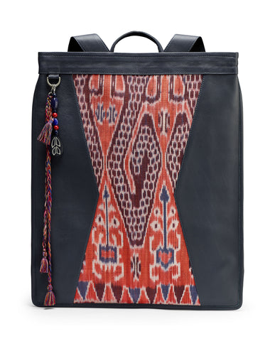 GRAY/BLUE KOMODO IKAT BACKPACK