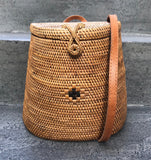 HANDMADE RATTAN BACKPACK