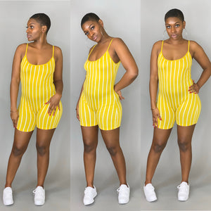 PINS N NEEDLES ROMPER (Mustard)