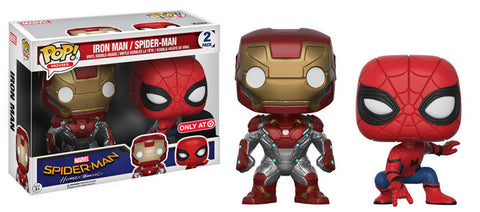 Funko POP! Marvel Iron Man / Spider-Man (2 Pack) Vinyl Figure (Target) NEW