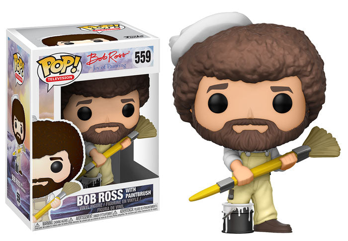 Funko POP! Television Bob Ross (w/ Paint Brush) Vinyl Figure NEW