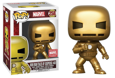 Funko POP! Marvel Iron Man (Gold) Vinyl Figure (Collector Corps) NEW