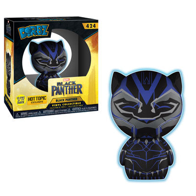 Dorbz Black Panther (GITD) Vinyl Figure (Hot Topic) NEW