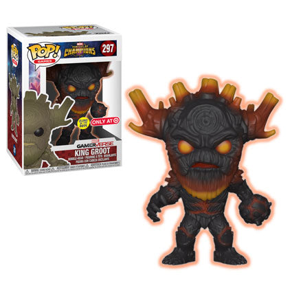 Funko POP! Marvel King Groot (GITD) Vinyl Figure (Target) NEW