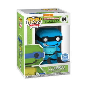Funko POP! 8-BIT Leonardo (Neon Blue) Vinyl Figure NEW