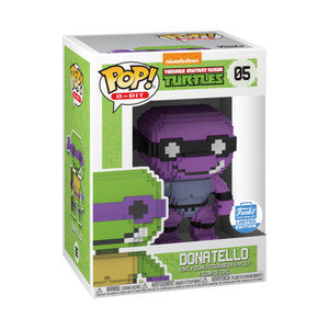 Funko POP! 8-BIT Donatello (Neon Purple) Vinyl Figure NEW