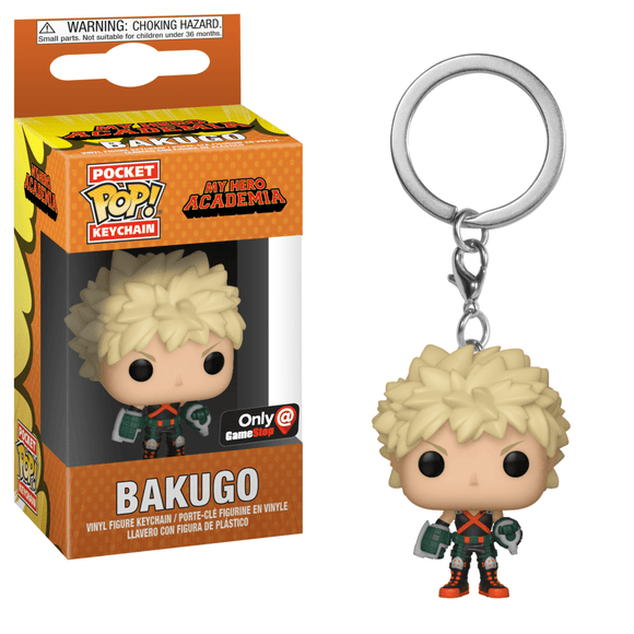 Funko Pocket POP! Animation Bakugo Keychain (GameStop)