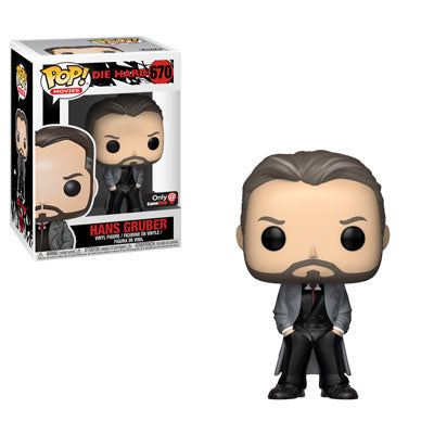 Funko POP! Movies Hans Gruber Vinyl Figure (GameStop) NEW