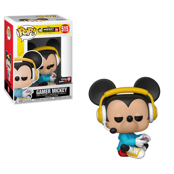 Funko POP! Disney Mickey Gamer (Sitting) Vinyl Figure (GameStop) NEW -  - Funko - The Pop Dungeon