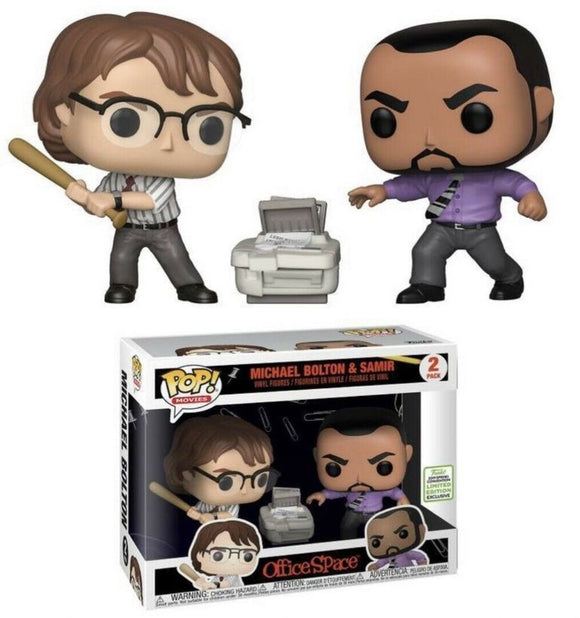 Funko POP! Movies Michael Bolton & Samir Vinyl Figure (2-Pack) (Spring Convention) NEW