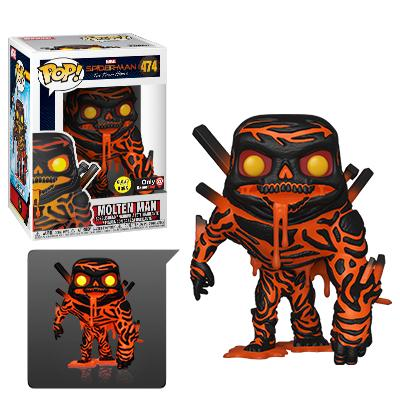 Funko POP! Marvel Molten Man (Glow) Vinyl Figure (GameStop)