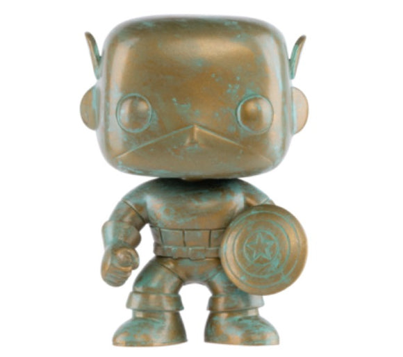Funko POP! Marvel Captain America (Patina) Vinyl Figure (Target) NEW