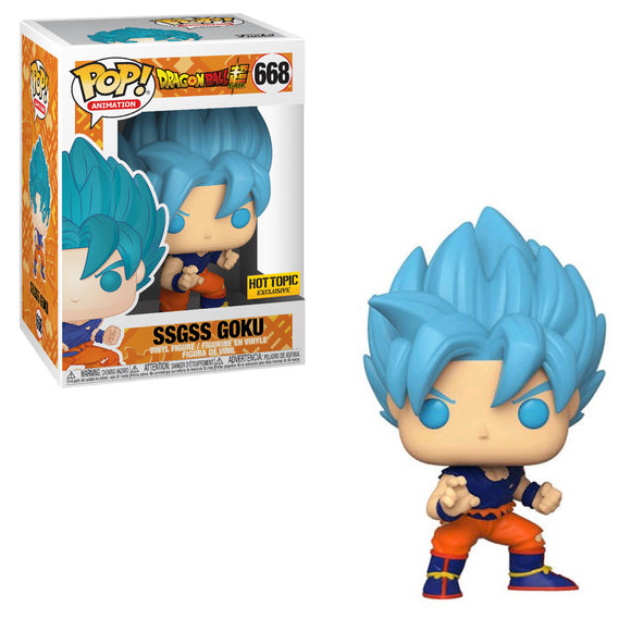 Funko POP! Animation Super Saiyan God Super Saiyan Goku Vinyl Figure (Hot Topic) NEW
