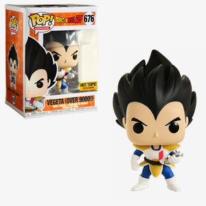 Funko POP! Animation Vegeta (Over 9000) Vinyl Figure (Hot Topic) NEW