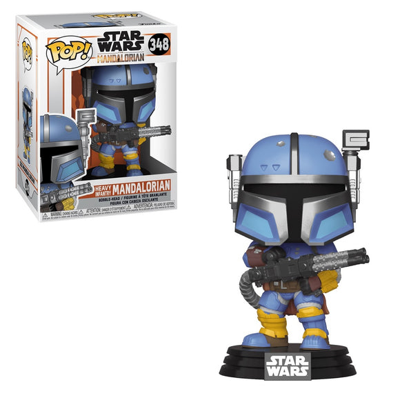 Funko POP! Star Wars The Mandalorian Heavy Infantry Vinyl Figure *BOX DAMAGE