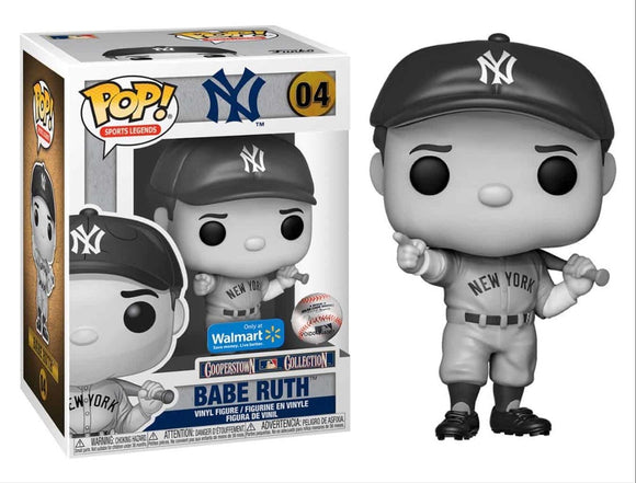 Funko POP! MLB Babe Ruth (BW) Vinyl Figure (Walmart) NEW