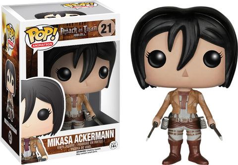 Funko POP! Animation Mikasa Vinyl Figure (VAULTED) NEW -  - The Pop Dungeon - The Pop Dungeon