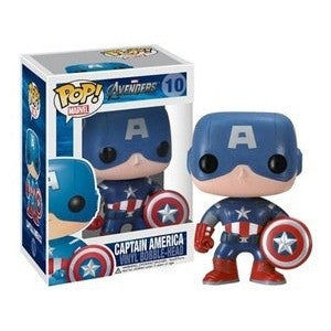 Funko POP! Marvel Captain America (VAULTED) Vinyl Figure MINOR BOX DAMAGE NEW -  - The Pop Dungeon - The Pop Dungeon
