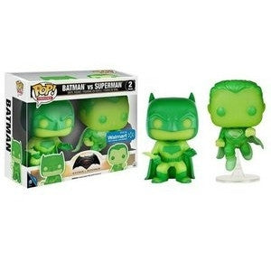 Funko Pop Heroes Batman VS. Superman (2 Pack) Vinyl Figure (GITD) (Walmart Exclusive) NEW -  - The Pop Dungeon - The Pop Dungeon