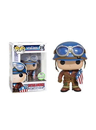 Funko POP! Marvel Captain America (Goggles) Vinyl Figure (ECCC Exclusive) NEW -  - The Pop Dungeon - The Pop Dungeon