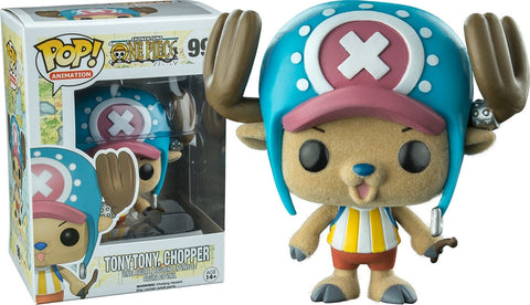 Funko POP! Animation Tony Tony Chopper (Flocked) Vinyl Figure (Funimation) NEW