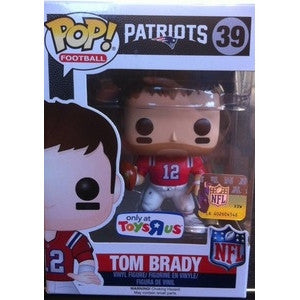 Funko POP! Football Tom Brady (Retro) Vinyl Figure (Toys R Us Exclusive) NEW -  - The Pop Dungeon - The Pop Dungeon