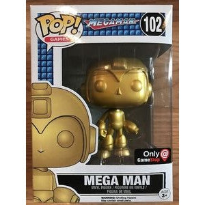 Funko POP! Games Mega Man (Gold) Vinyl Figure (GameStop Exclusive) NEW -  - The Pop Dungeon - The Pop Dungeon