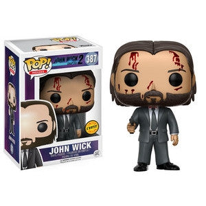 Funko POP! Movies John Wick (Bloody) Vinyl Figure (CHASE) -  - The Pop Dungeon - The Pop Dungeon