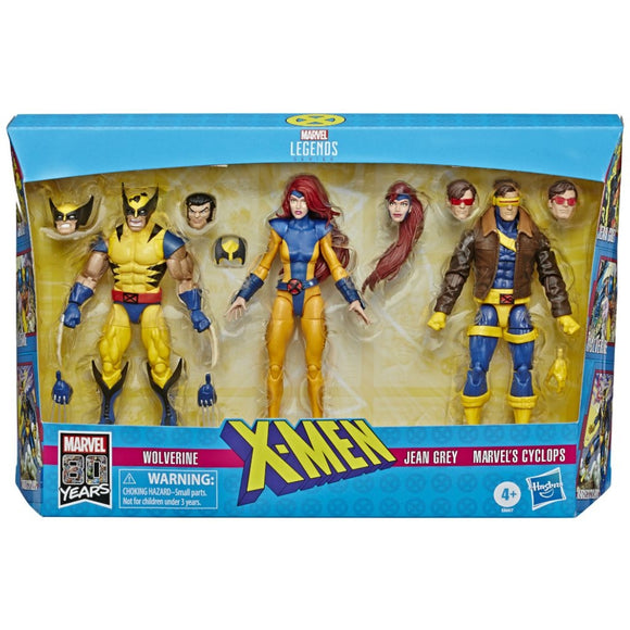 Marvel Legends - X-Men Wolverine, Jean Grey, Cyclops Action Figures 3-Pack (Exclusive)